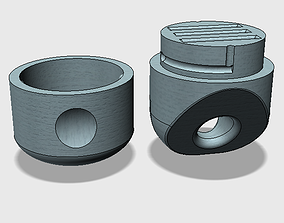 Keychain - case for uSD cards 3D printable model