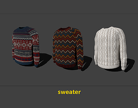 sweater 3D model game-ready