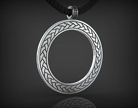 Pendant Circle with rope-ornament 3D printable model