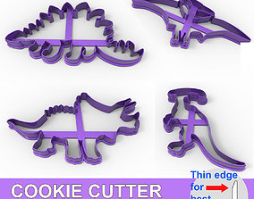 COOKIE CUTTER 4 DINOSAURS PACK 3D print model