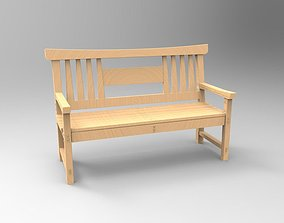 3D printable model Wood Bench