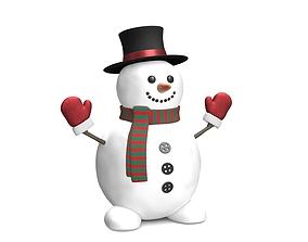 Snowman 3D asset realtime PBR
