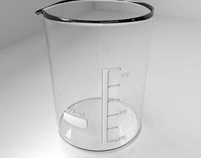 800ml Empty Glass Beaker 3D model