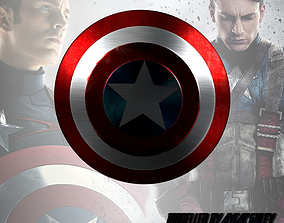 Shield of Captain America and Hammer of Thor 3D