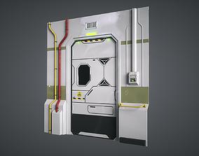 3D asset Lab Sci Fi Door