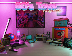 Low-Poly 80s Toys Pack 3D model realtime