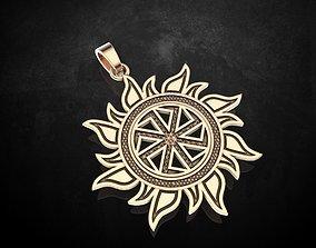 Pendant Kolovrat symbol of the Sun 323 3D printable model