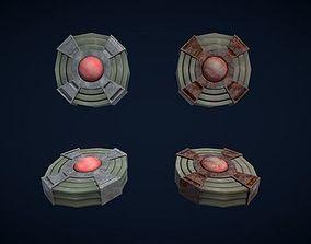Low poly PBR Landmines 3D asset low-poly