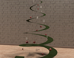 Christmas tree maya 3D