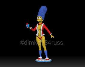 Simpsons Marge 3D print model