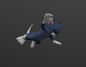 TOMC-003 Tom Cat Falling 3D asset