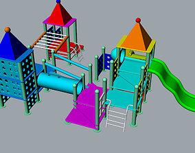 Children playground 3D Model slide