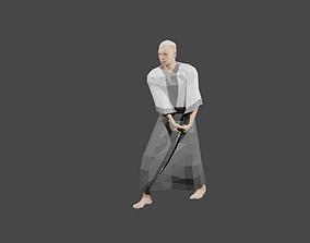 Samurai 3D asset animated