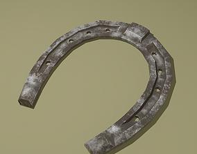 Dirty Horse Shoe 3D asset