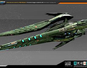 3D model VR / AR ready SF Alien Dreadnought A7