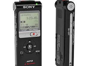Sony ICD-UX200 Digital Voice Recorder 3D