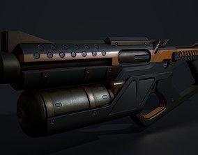 Twin Hammer Shotgun Pistols 3D asset