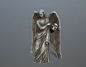 Angel Statue 3 3D model low-poly