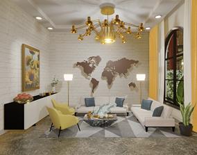 living 3D model Livingroom