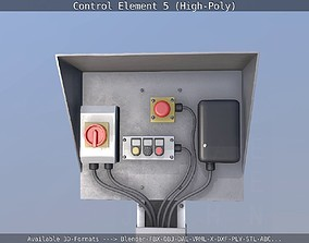 Control Element 5 High-Poly Version 3D
