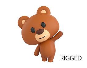 3D Character038 Rigged Bear