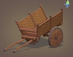 Medieval Carriage 3D asset
