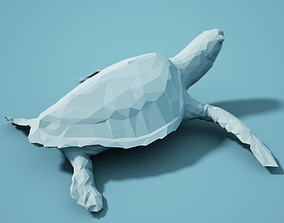 Low Poly Turtle Model