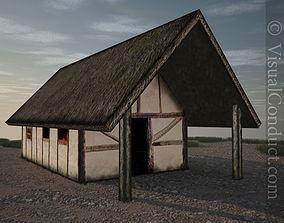 3D model Medieval Farm House