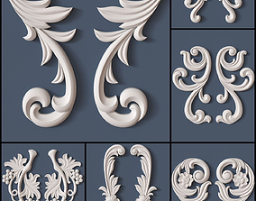10 Decorative Scrolls Collection 3D model