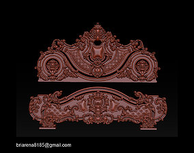 house Classic Bed 3D relief models