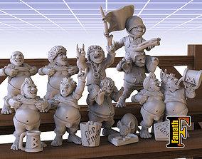 10 Fans Halflings - Fanath 3D printable model