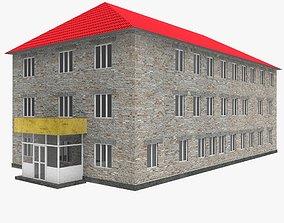 3D asset School building