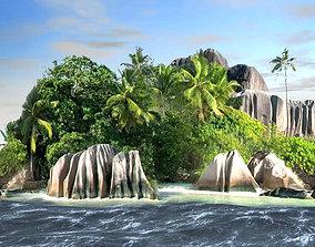 3D model Isla y mar