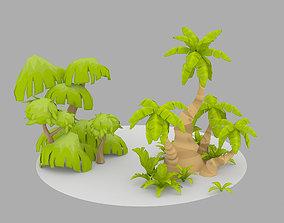 3D model Cartoon Oasis Plants