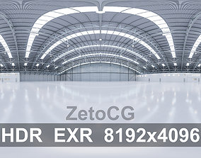 3D model HDRI - Airplane Hangar Interior 8b - 8192x4096