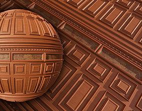 Wooden wall - PBR textures board 3D