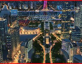 3D Modern City Animated 072