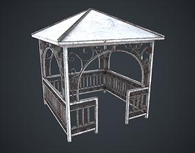Alcove Worn Rust 3D asset