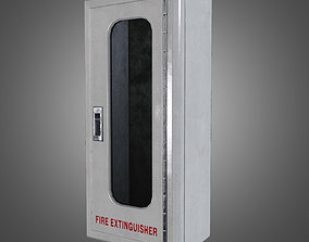 3D model Fire Extinguisher Box - PBR Game Ready