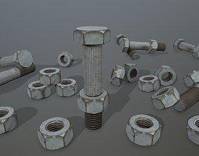 Bolts 3D asset low-poly