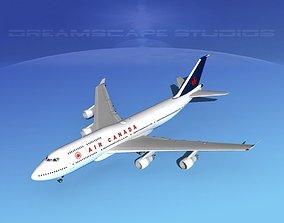 Boeing 747-400 Air Canada 3D model