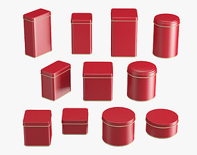 Containers Tins Set 3D