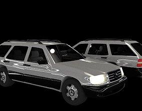 animated Mercedes-Benz E class W124 Kombi model 3D