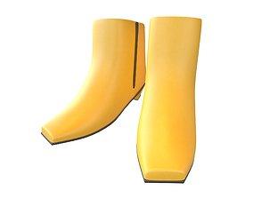 3D asset Square Toe Short Boots v1 005