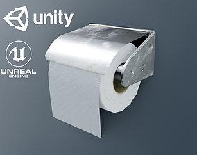 Dirty Toilet Paper 3D model