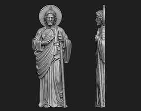 Saint Jude Full Figure Relief 3D print model
