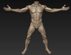 3D Male Full Body Sculpt Pose 11
