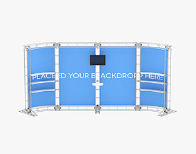 3D model Backdrop 8ft x 20ft Truss Backwall Display