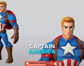 Character - Cartoon - Captain America Infinity Fan Art 3D