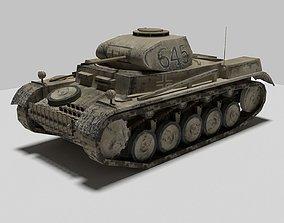 Tank Panzer 2 II 3D asset